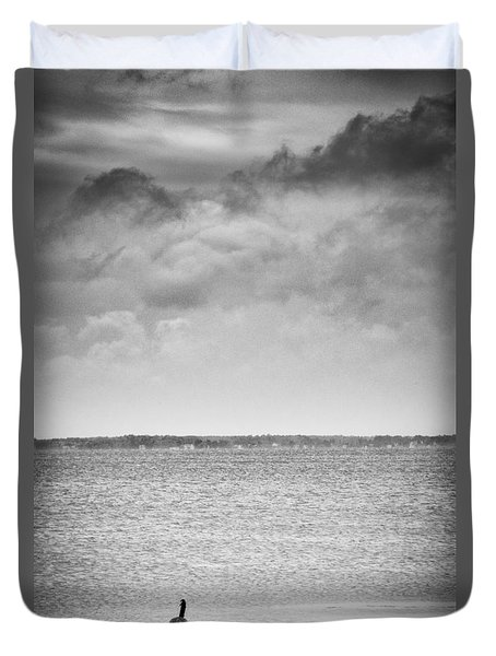 Canada Geese - Currituck Sound Duvet Cover