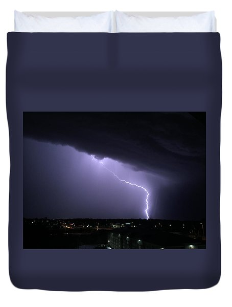 Stormy Art On The Prarie Duvet Cover