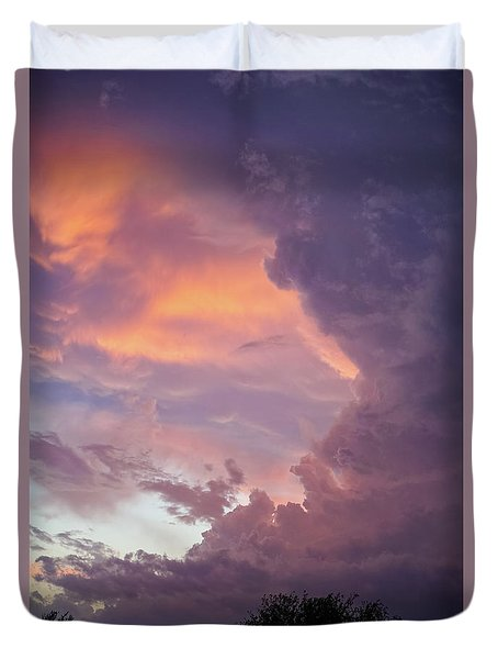 Stormy Clouds Over Texas Duvet Cover by Ken Stanback