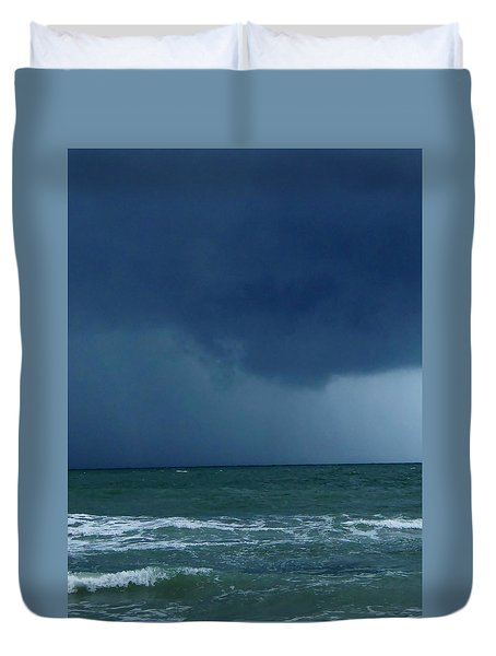 Duvet Cover featuring the photograph Stormy Day At Honeymoon Island 002 by Chris Mercer
