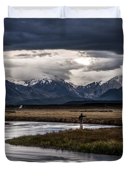 Stormy Day Of Fishing Duvet Cover