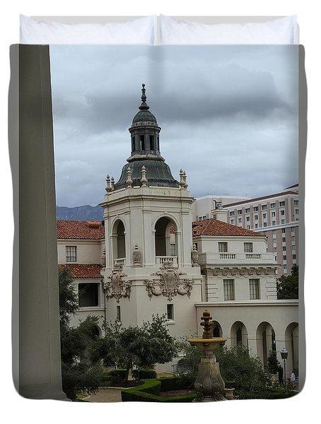 Duvet Cover featuring the photograph Stormy Day by Robert Hebert