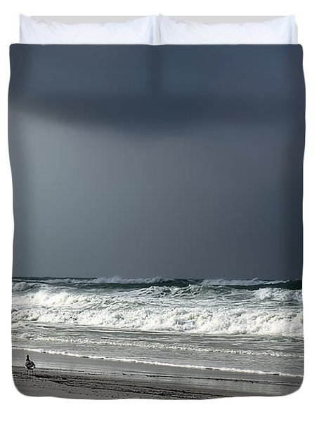 Duvet Cover featuring the photograph Stormy by Debra Forand
