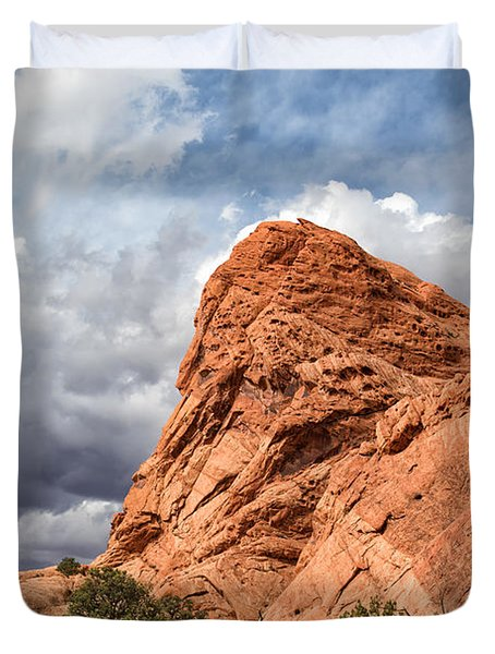 Stormy Desert Afternoon Duvet Cover
