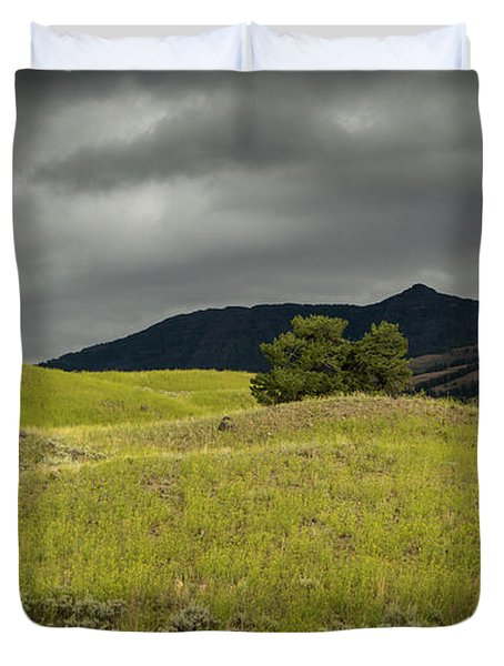 Stormy Fields Of Yellow Duvet Cover