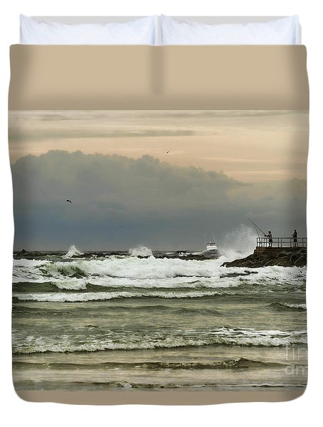 Stormy Fishing Duvet Cover