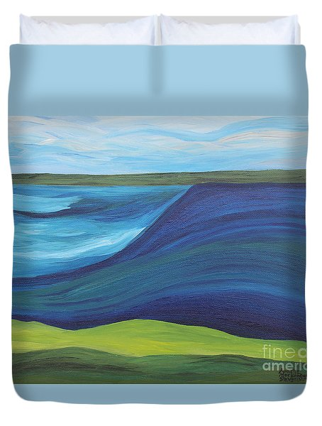 Stormy Lake Duvet Cover