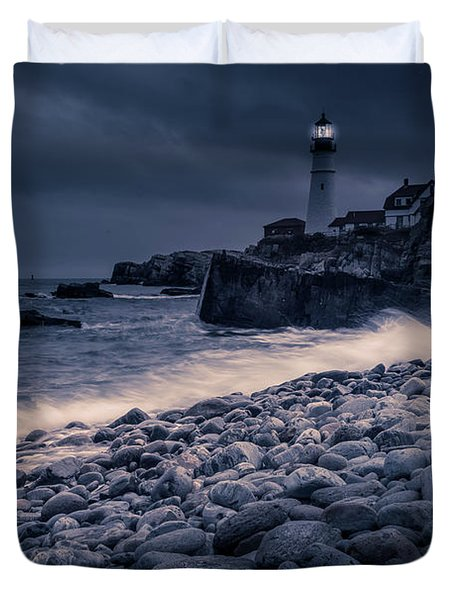 Stormy Lighthouse 2 Duvet Cover