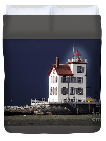 Stormy Lighthouse Duvet Cover