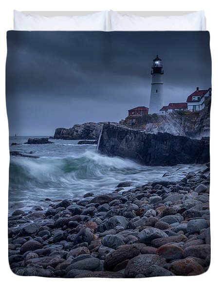 Stormy Lighthouse Duvet Cover