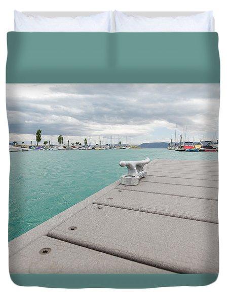 Stormy Marina Duvet Cover