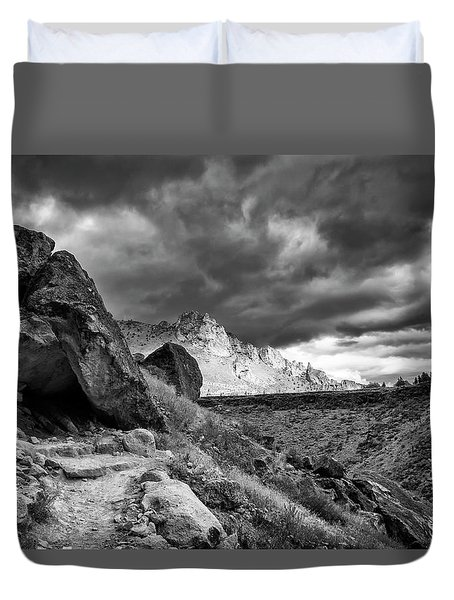 Stormy Misery Ridge  Duvet Cover