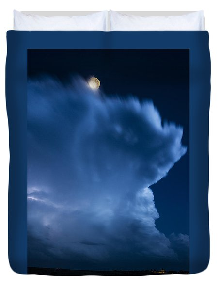 Stormy Moon Duvet Cover