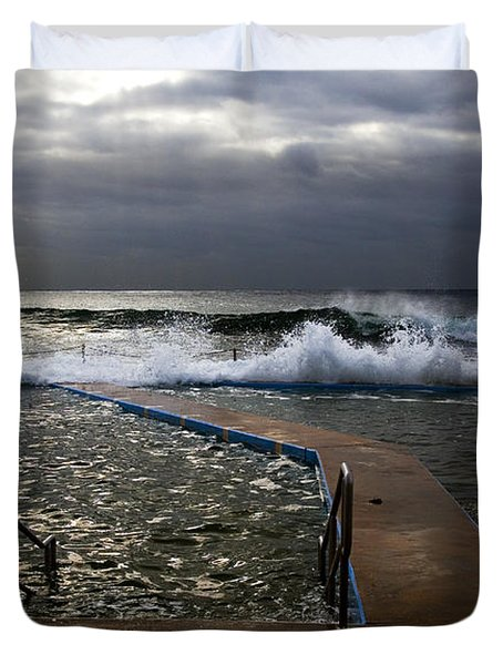 Stormy Morning At Collaroy Duvet Cover by Avalon Fine Art Photography