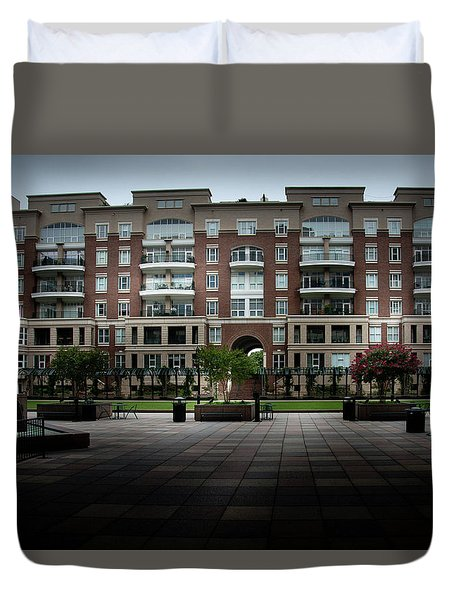 Stormy Morning At North Church Condos Duvet Cover