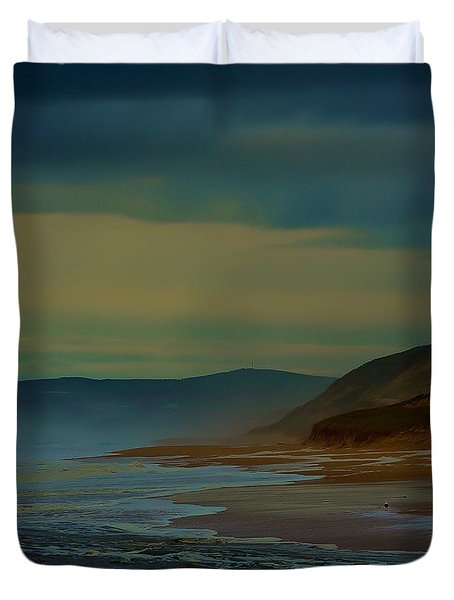 Duvet Cover featuring the photograph Stormy Morning by Blair Stuart