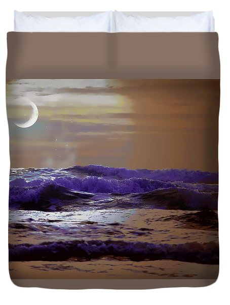 Duvet Cover featuring the photograph Stormy Night by Aaron Berg