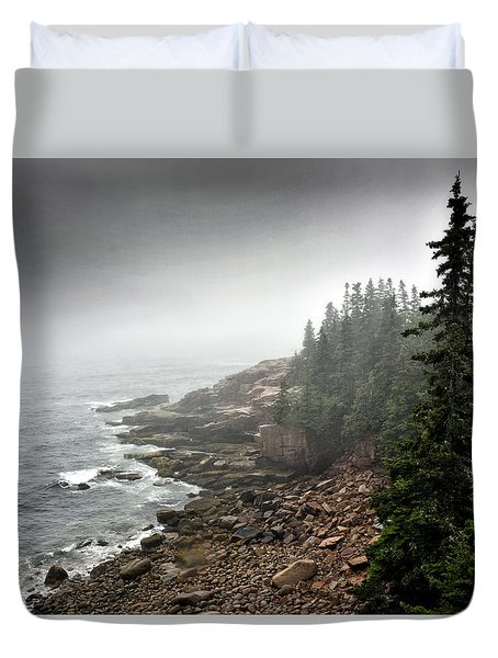 Stormy North Atlantic Coast - Acadia National Park - Maine Duvet Cover