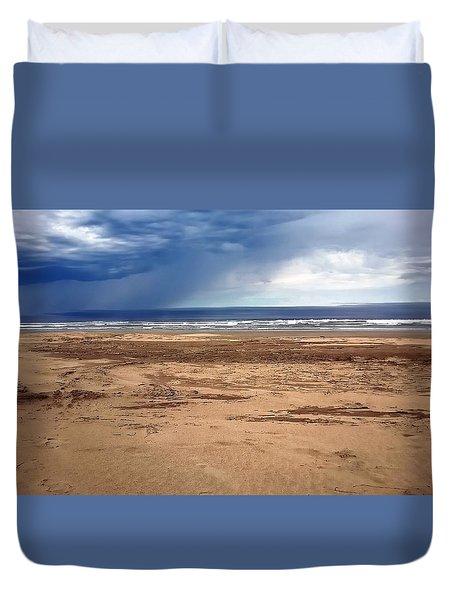 Stormy Nye Beach Duvet Cover