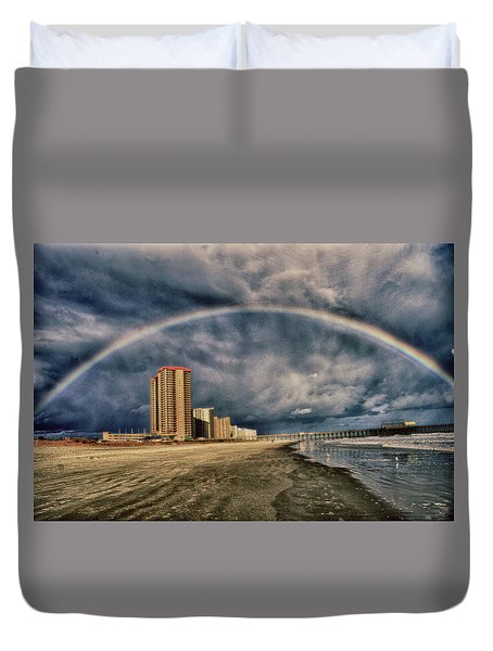Stormy Rainbow Duvet Cover by Kelly Reber