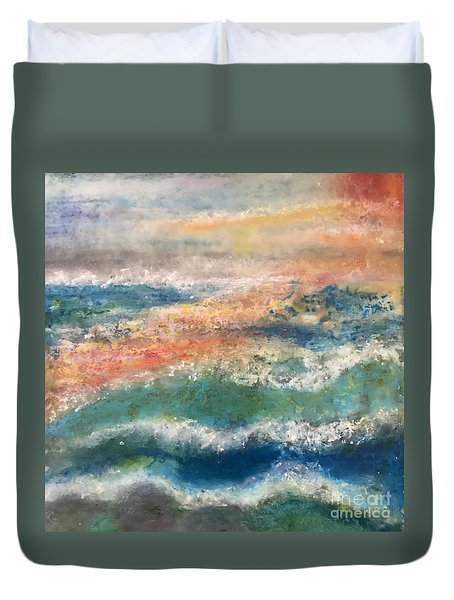 Stormy Seas Duvet Cover by Kim Nelson