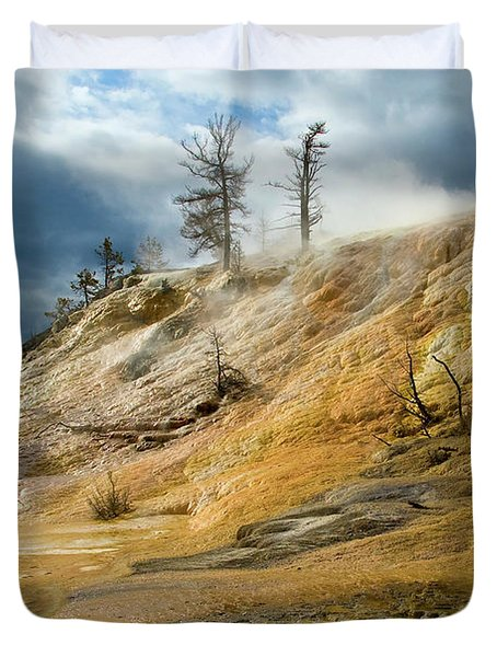 Stormy Skies At Mammoth Duvet Cover by Steve Stuller