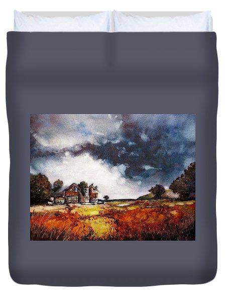 Stormy Skies Duvet Cover by Geni Gorani
