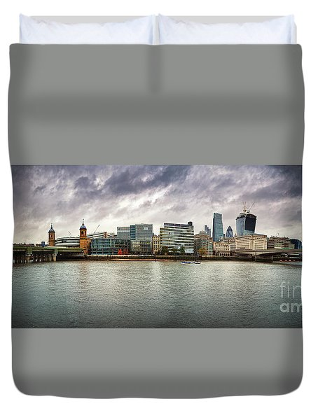 Stormy Skies Over London Duvet Cover