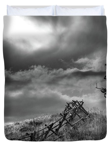Stormy Sky At The Ranch Duvet Cover