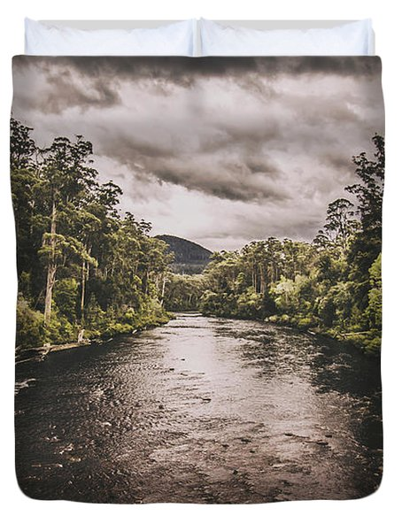 Stormy Streams Duvet Cover