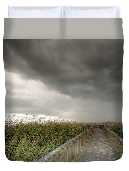 Stormy Walk Duvet Cover