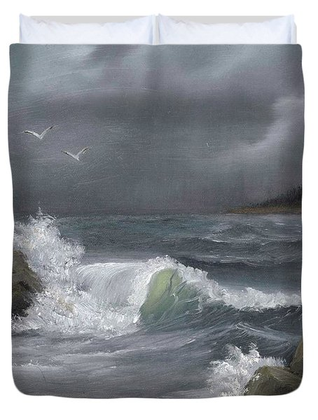 Stormy Waters Duvet Cover by Sheri Keith