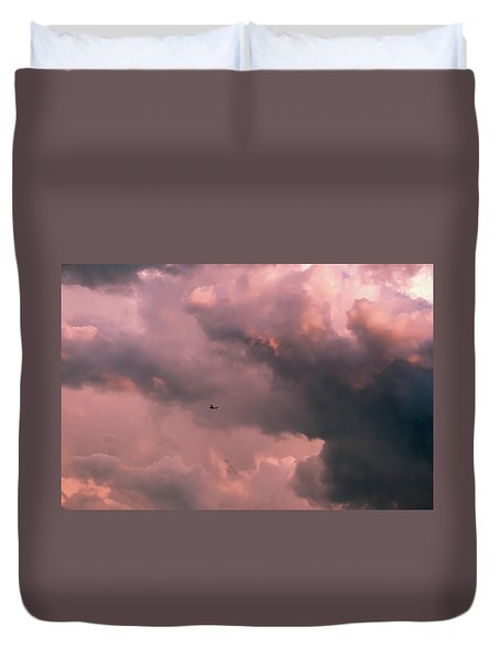 Duvet Cover featuring the photograph Stormy Weather by Carolyn Dalessandro