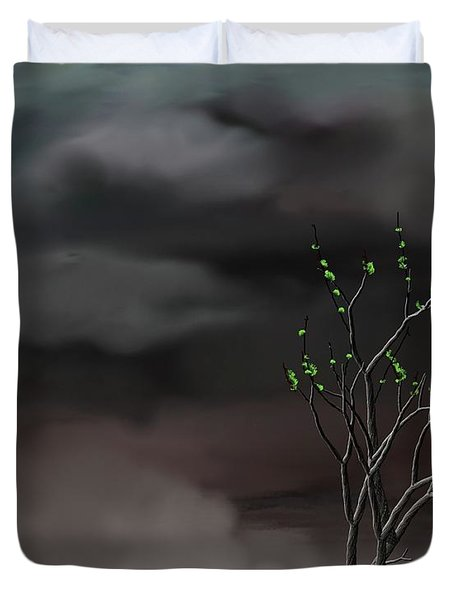 Stormy Weather Duvet Cover by David Lane