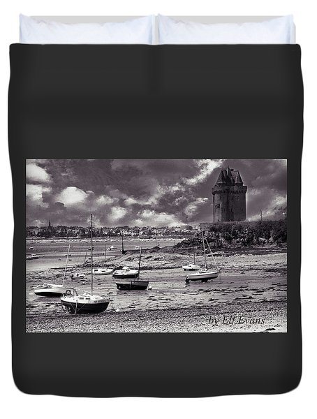 Duvet Cover featuring the photograph Stormy Weather by Elf Evans