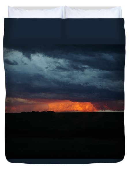 Stormy Weather Duvet Cover by Kathy M Krause
