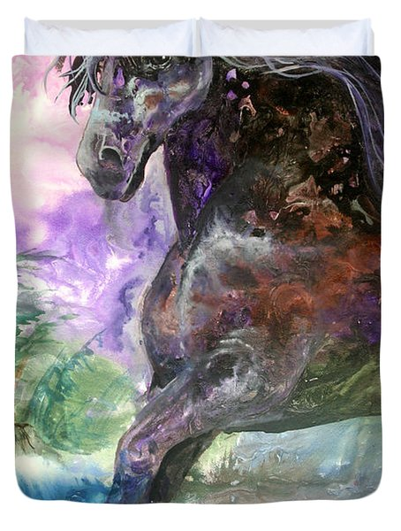 Stormy Wind Horse Duvet Cover
