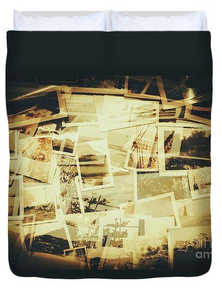 Storyboard Of Past Memories Duvet Cover