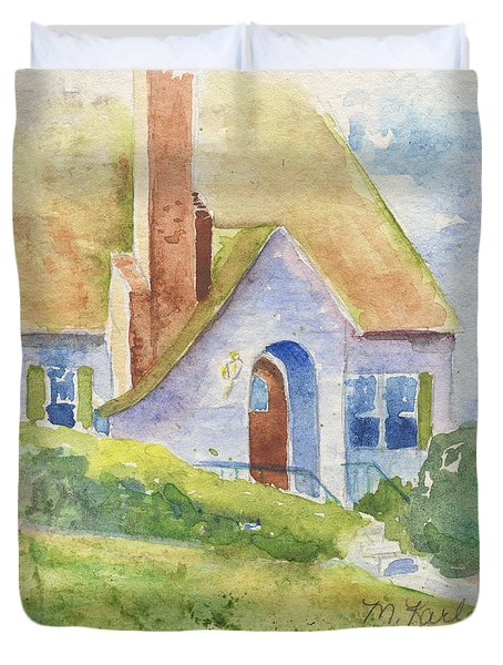 Storybook House Duvet Cover