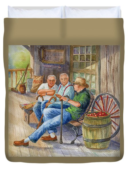 Storyteller Friends Duvet Cover