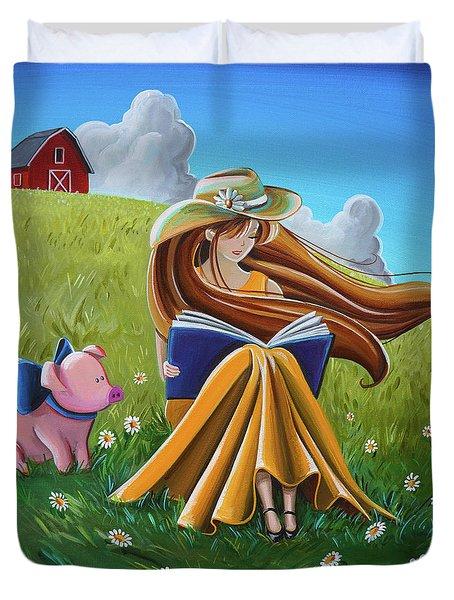 Storytime On The Farm Duvet Cover