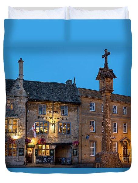 Duvet Cover featuring the photograph Stow On The Wold - Twilight by Brian Jannsen