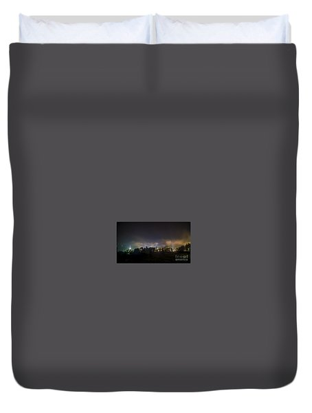 Stowe Vermont After Dark. Duvet Cover