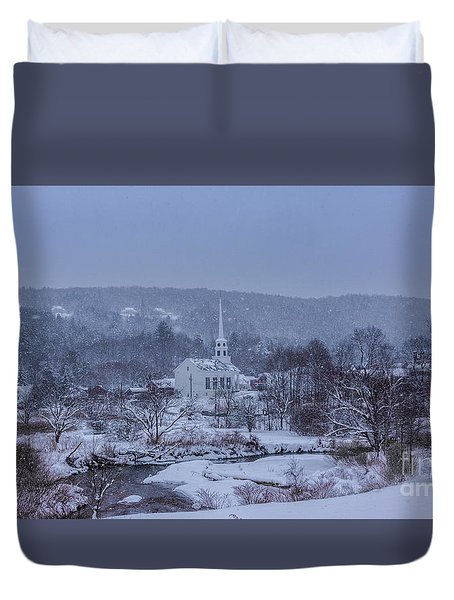 Stowe Vermont Duvet Cover