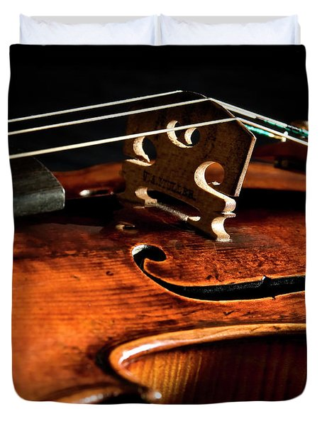 Duvet Cover featuring the photograph Stradivarius by Endre Balogh