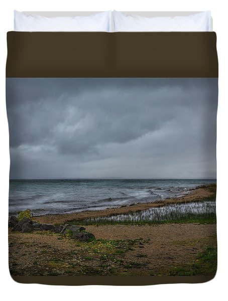 Straits Of Mackinac Duvet Cover