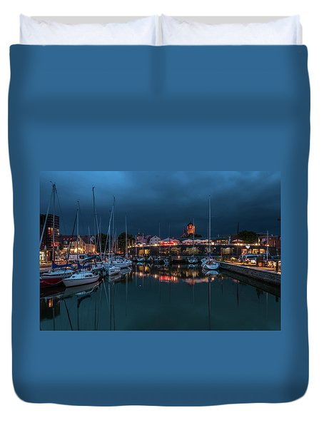 Stralsund At The Habor Duvet Cover by Martina Thompson
