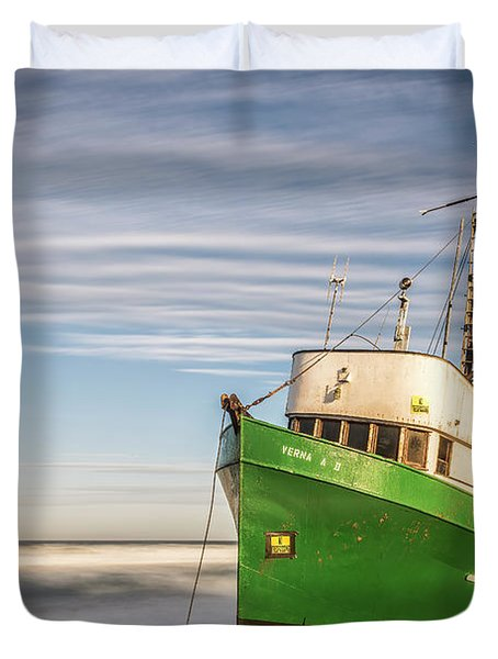 Stranded On The Beach Duvet Cover