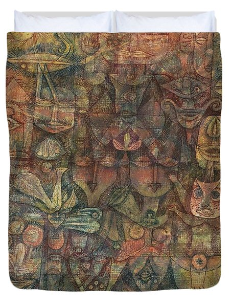 Strange Garden Duvet Cover by Paul Klee