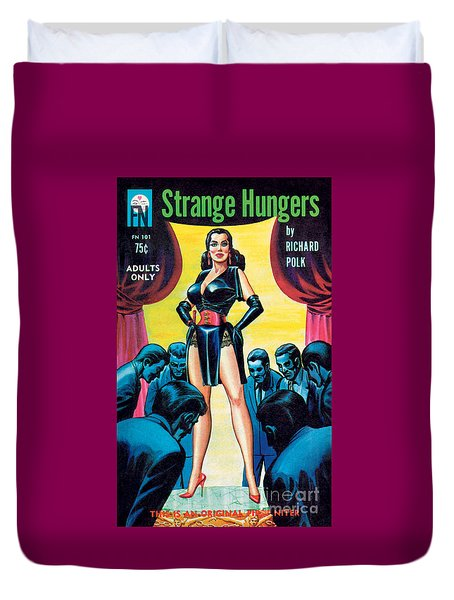 Duvet Cover featuring the painting Strange Hungers by Eric Stanton